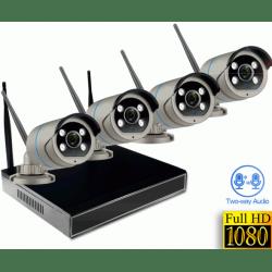 Беспроводной цифровой Wi-Fi комплект видеонаблюдения на 4(8) камер со звуком Millenium LS48NVR8