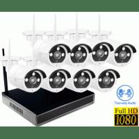 Беспроводной цифровой Wi-Fi комплект видеонаблюдения со звуком Millenium LS8NVR8 Audio