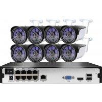 Цифровой комплект видеонаблюдения на 8 уличных 5Mp камер Millenium PRO IP 8 POE
