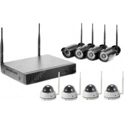 Цифровой Wi-Fi IP комплект видеонаблюдения Okta Vision Антрацит 4х4
