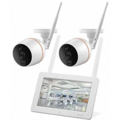Цифровой wi-fi комплект видеонаблюдения на 2 камеры со звуком Proline KIT-WT8204-HW2011WPO