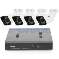 Уличный Full-HD PoE комплект видеонаблюдения на 4 камеры Proline SET-IPE4H444P