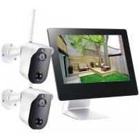 """Беспроводной IP комплект видеонаблюдения на 2 камеры Twin Home IP Avtonom (9"""")"""