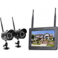 """Беспроводной IP комплект видеонаблюдения на 2 камеры Twin Sklad IP Avtonom (7"""")"""