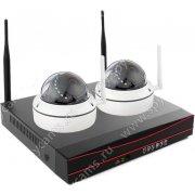 Беспроводной комплект видеонаблюдения на 2 внутренние камеры Twin Vision Home