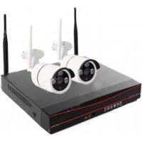 Беспроводной цифровой Wi-Fi комплект видеонаблюдения Twin Vision Street