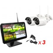 Цифровой wi-fi комплект видеонаблюдения на 2 камеры Twin Vision Street MiB