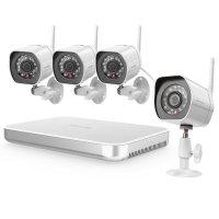 Беспроводной цифровой комплект видеонаблюдения на 4 HD камеры Zmodo KW0002 Wi-Fi 1 Тб