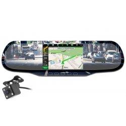 Видеорегистратор зеркало с камерой заднего вида и GPS радар-детектором Arena Next AM-1