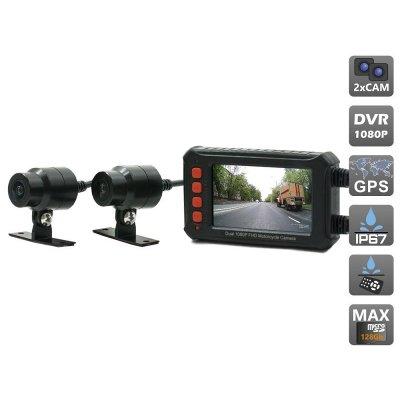 Видеорегистратор для мотоцикла с двумя камерами AVEL AVS540DVR