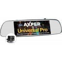 Автомобильный видеорегистратор зеркало с GPS и задней камерой Axper Universal Pro