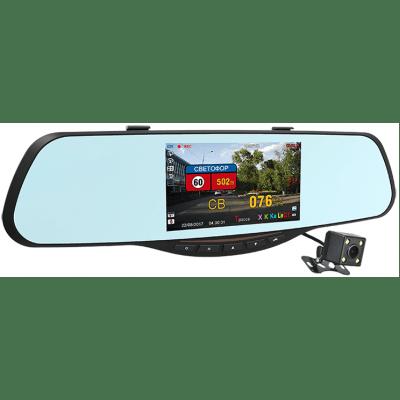 Автомобильный видеорегистратор в зеркале заднего вида с радар-детектором INTEGO VX-685MR