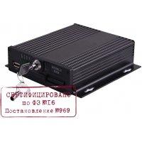 Стационарный автомобильный 4 канальный AHD видеорегистратор на транспорт IVUE CVMR-2104