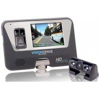 Видеорегистратор автомобильный с внешней камерой Visiondrive VD-8000HDS 2CH