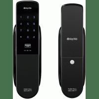 Врезной цифровой биометрический дверной замок KeyWe BEKZOD