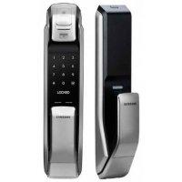 Врезной электронный биометрический кодовый замок на дверь Samsung SHP-DP728 AK/EN усиленный