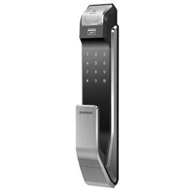 Врезной биометрический автономный кодовый дверной замок Samsung SHS-P718