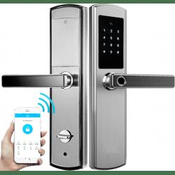 Врезной биометрический кодовый bluetooth замок на дверь Selock Hotel FP