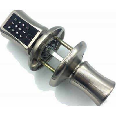 Дверная поворотная биометрическая ручка с замком защелкой Selock Knob F