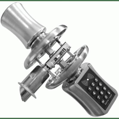 Дверная поворотная кодовая ручка с замком защелкой Selock Knob S