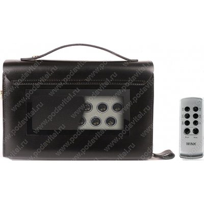 Подавитель диктофонов ультразвуковой с подавителем связи Хамелеон-борсетка-12 GSM
