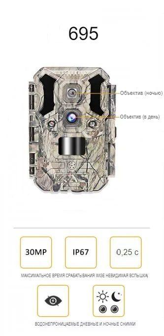 Фотоловушка 30Mp с двумя объективами MiCam KeepGuard 695