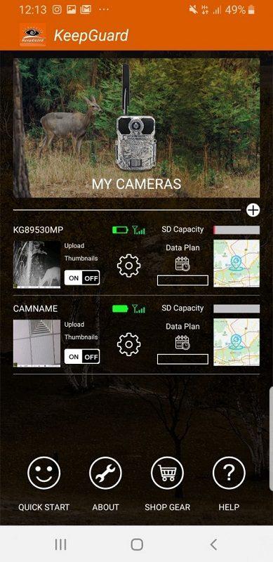 4G фотоловушка 30Mp с поддержкой мобильного приложения MiCam KeepGuard 985
