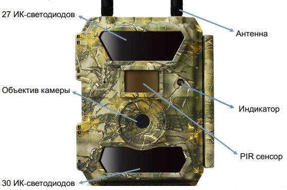 4G фотоловушка 12 Mp для охоты и охраны Wilfine SiFar 4.0CS