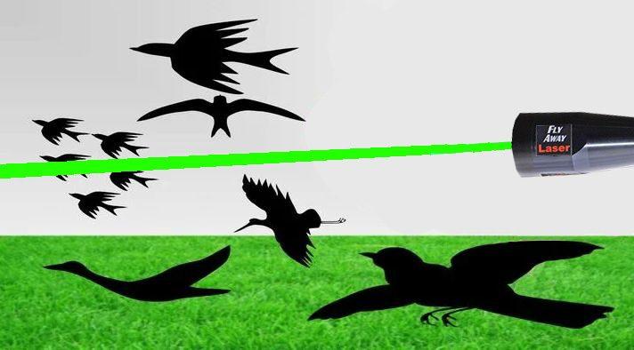 Ручной лазерный отпугиватель птиц Fly Away