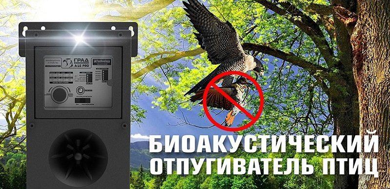 Биоакустический (звуковой) отпугиватель птиц Град А-16 Pro
