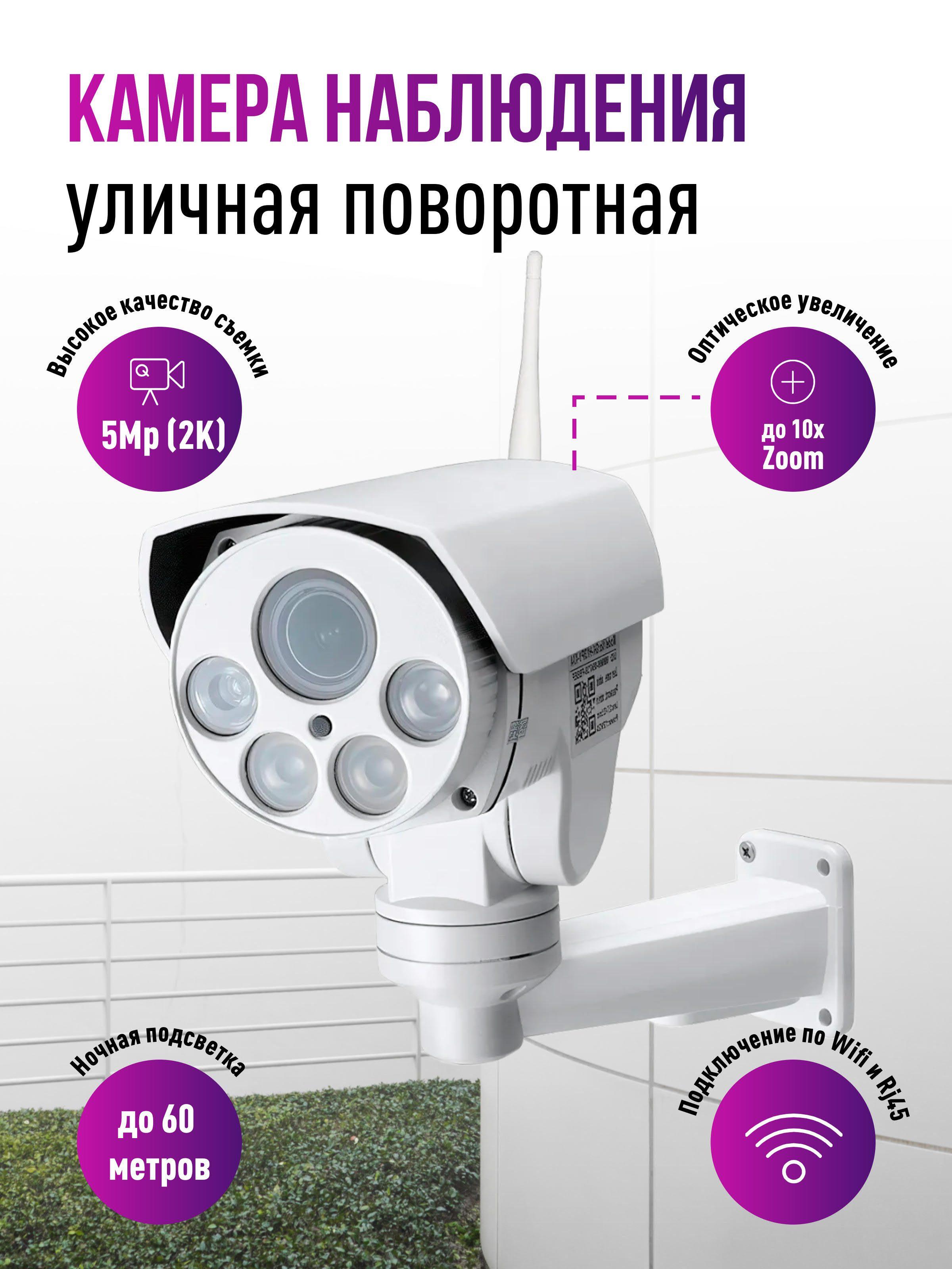 Уличная поворотная Wi-Fi IP камера c 5x(10x) zoom Millenium 433W Street PTZ