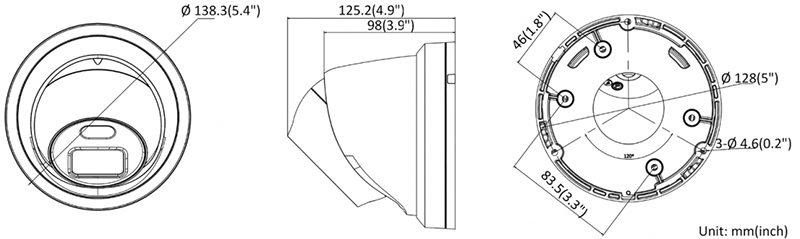 Купольная IP POE камера с LED подсветкой ColorVu и записью на карту HIKVISION DS-2CD2347G2-LU 2.8mm