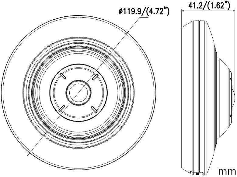 Панорамная 3Mp fisheye камера с поддержкой POE и записью на карту HIKVISION DS-2CD2935FWD-I