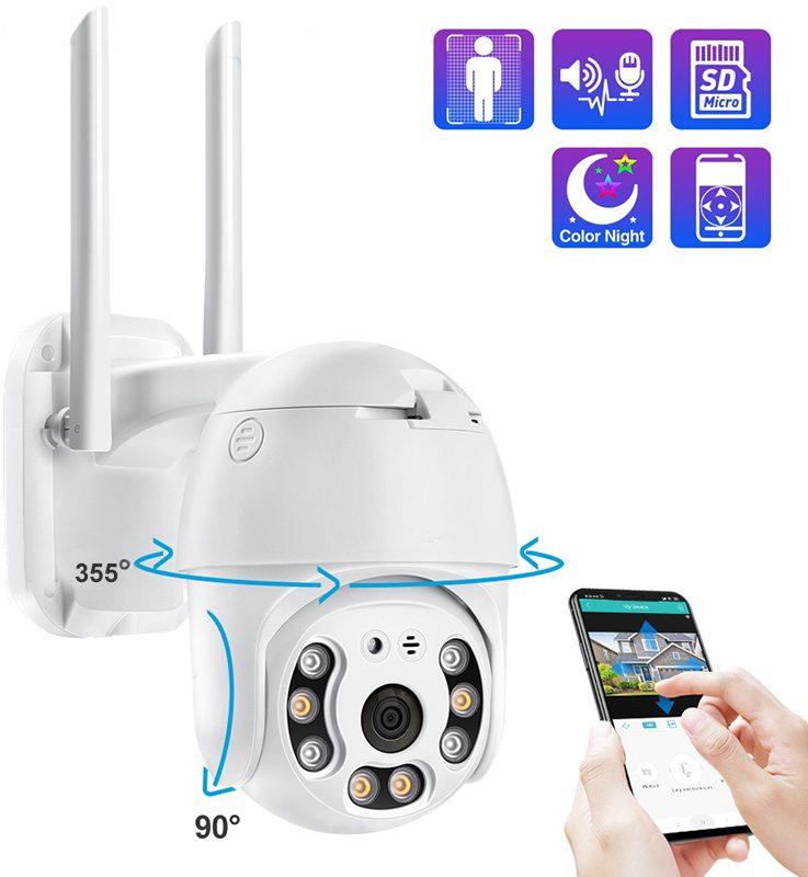 Купольная поворотная Wi-Fi IP камера с записью и видеоаналитикой MiCam Smart 817TP