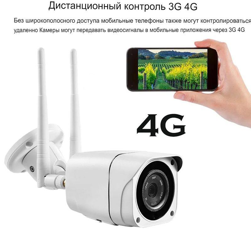 Уличная 4G Wi-Fi IP камера c записью на карту памяти Millenium 57G