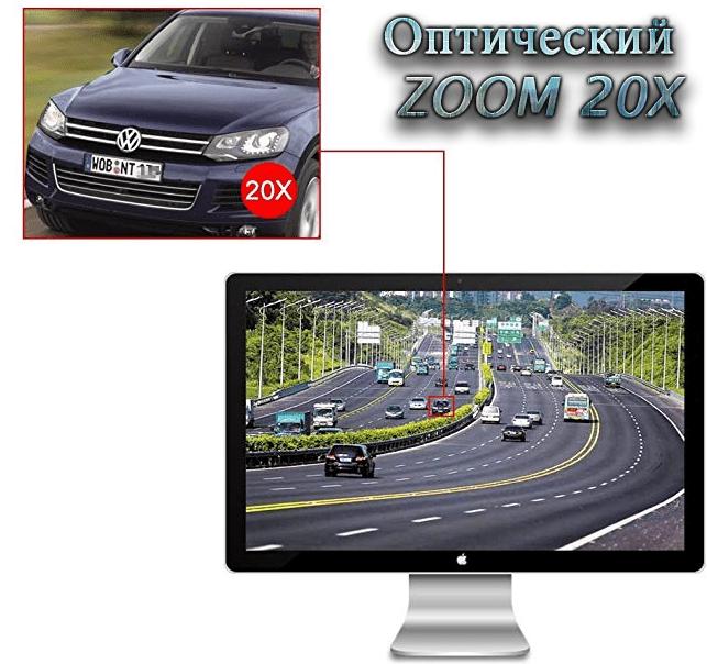 Уличная купольная поворотная 3G 4G IP Wi-Fi камера c 20х зумом Millenium GK-4GH20