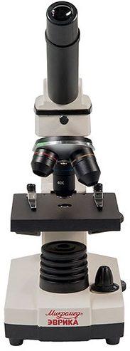 Школьный микроскоп с видеоокуляром в кейсе Микромед Эврика 40х-1280х