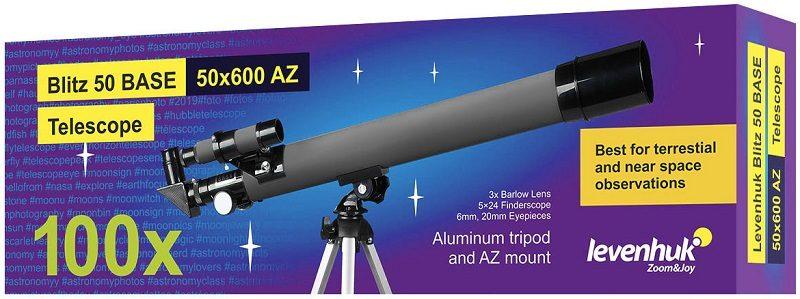 Телескоп рефрактор Levenhuk (Левенгук) Blitz 50 BASE
