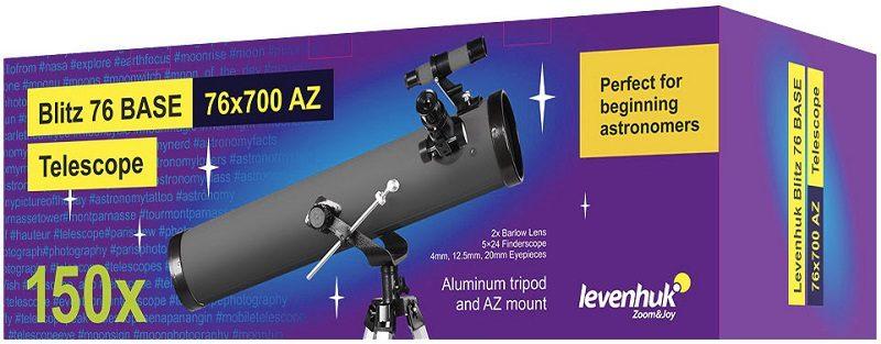 Телескоп рефлектор Ньютона Levenhuk (Левенгук) Blitz 76 BASE