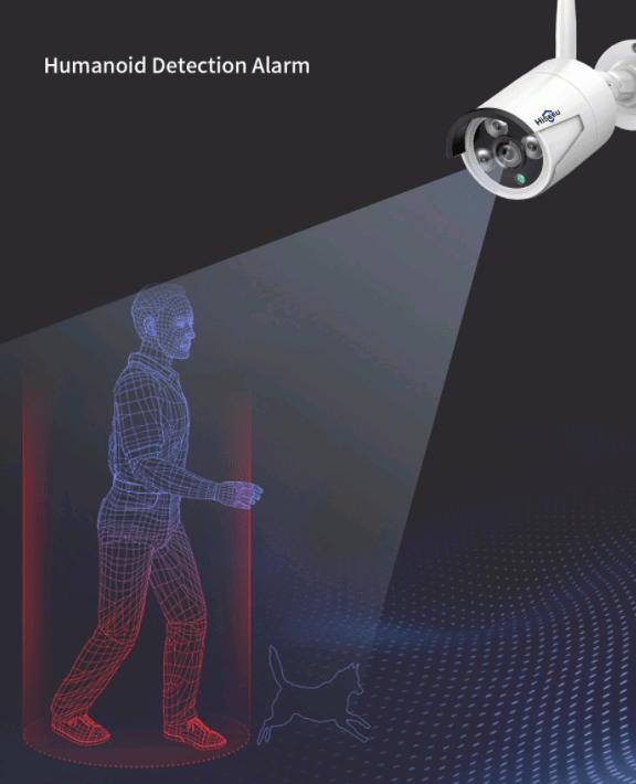 Беспроводной цифровой комплект wifi видеонаблюдения на 4 камеры со звуком Longse Light 4CH 3Mp