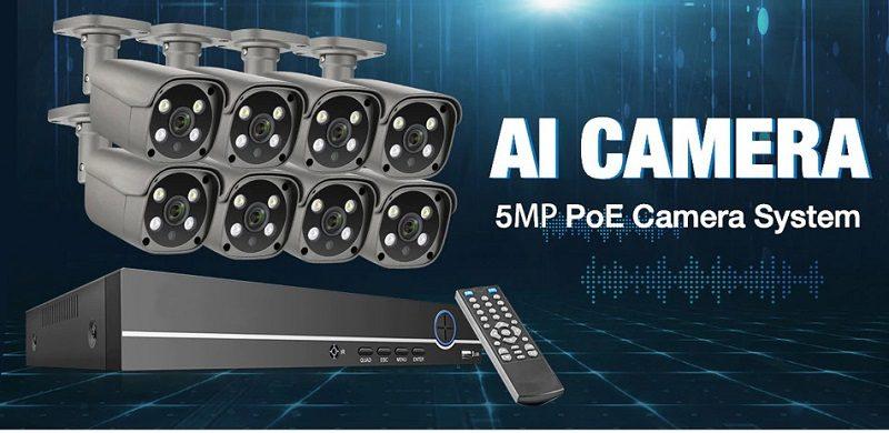 Цифровой комплект видеонаблюдения на 4 и 8 уличных 5Mp IP POE камер MiCam KIT-5048P