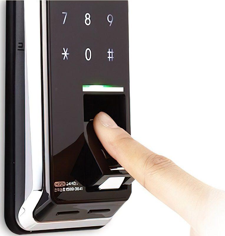 Накладной биометрический кодовый замок H-Gang Guardian TR812