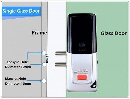 Накладной электронный дверной замок невидимка Selock Universal