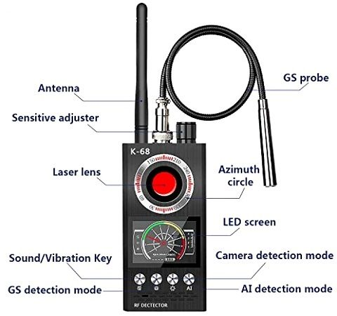 Универсальный детектор жучков 3 в 1 с магнитным датчиком Hunter 007-EXPERT